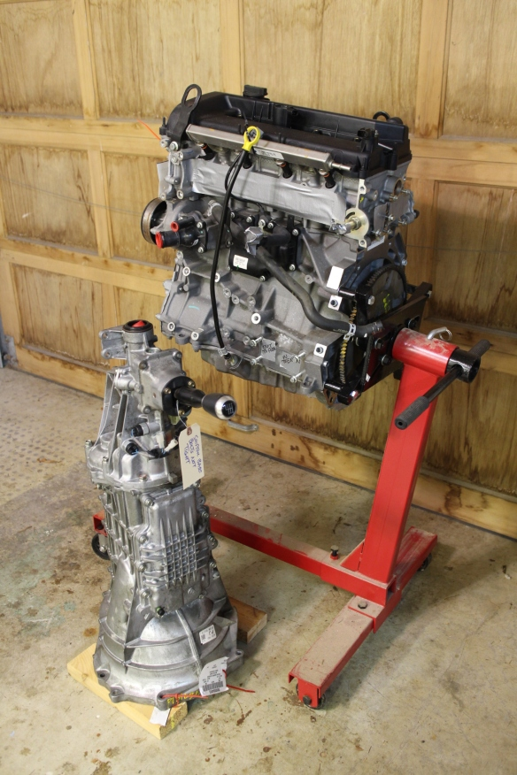 The 2.0 Ford Duratec engine, from a 2008 Focus. And a six-speed gearbox from a 2007 Mazda MX5/Miata.