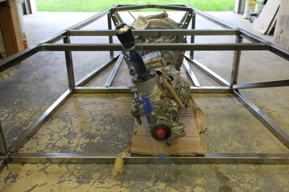 transmission in chassis